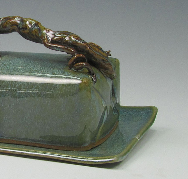 Grape Leaf Butter Dish